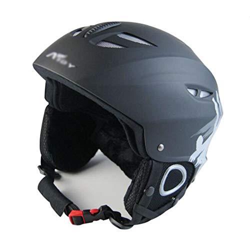 ZCPDP Skihelm, verstelbare hoofdomtrek, warm en geventileerd, met afneembare gehoorbescherming, geschikt voor mannen en vrouwen, geschikt voor skiën en skateboarden.