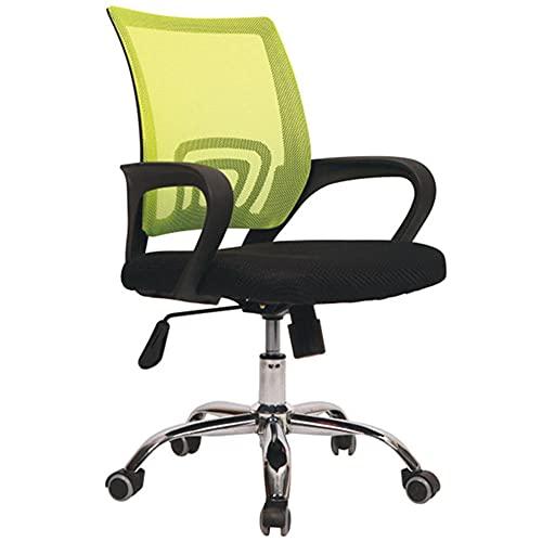 Silla de trabajo ergonómica de altura ajustable, silla de oficina ejecutiva con función de inclinación y bloqueo de posición, silla de escritorio de malla para computadora, color verde