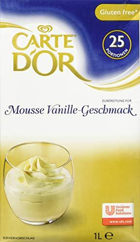 Carte d'Or Mousse Vanille Geschmack (flüssig, cremig mit Bourbon-Vanille) 2er Pack (2 x 1L)