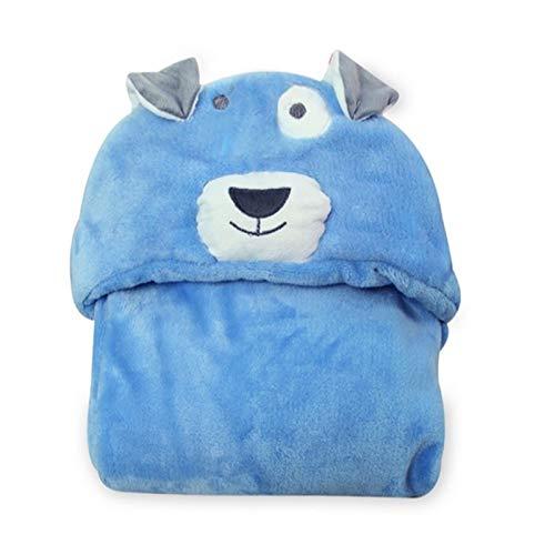 QWERBAM Bebé Niño Niñas Toalla De Baño Recién Nacido Swaddle Súper Suave Y Cómodo Niño Niño con Capucha Capa Edredón Forro Polar For Family (Color : Bluedog)