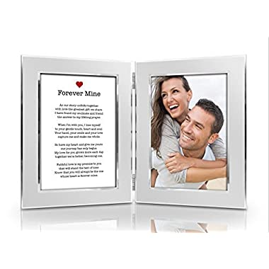 Humor Us Home Goods Romantic Love Poem Picture Frame Set - Premium Double Hinged Photo Frames - Gift for Dad, Husband, Grandpa, Men - Perfect Present for His Birthday, Father's Day, Christmas