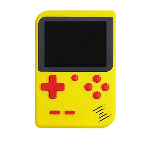 Yowablo Retro Mini Handheld Console Emulator Eingebautes 400 Classic Videospiele Geschenk (1Stck,Gelb)