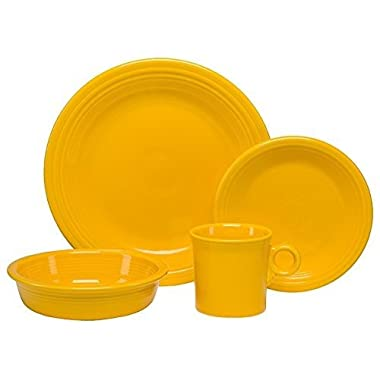 Homer Laughlin 831-342 4 Piece Place Setting Dinnerware, Daffodil