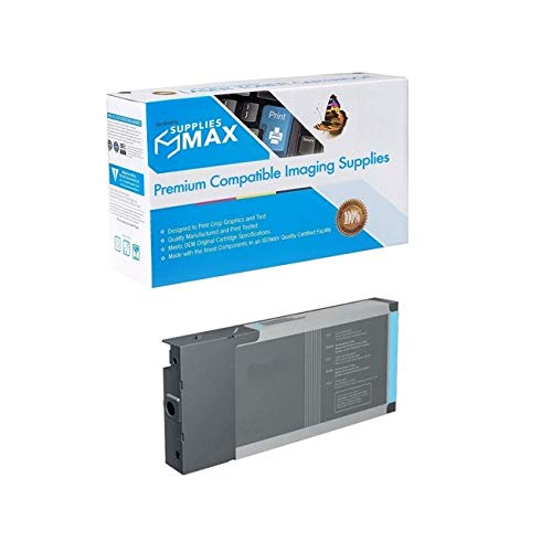 SuppliesMAX Remanufactured Replacement for Stylus Pro 4800/Pro 4880 Pigment Light Cyan Inkjet (220 ML) (T605500-US)