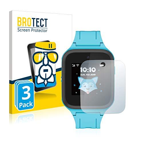 BROTECT Panzerglas Schutzfolie kompatibel mit TCL Movetime FamilyWatch Kids MT40X (3 Stück) - 9H Extrem Kratzfest, Anti-Fingerprint