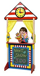 ALEX® Toys - Pretend & Play Floor Standing Puppet Theater W/ Clock 23K
