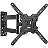 TV Wall Mount, Swivels Tilts Extends Heavy Duty TV Mount Bracket for 32-55 inch Plasma & Curved TV up to 40kg Max VESA 400x400mm