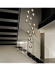 CBJKTX hanglamp eettafel in hoogte verstelbaar glas in de kleur grijs en amber