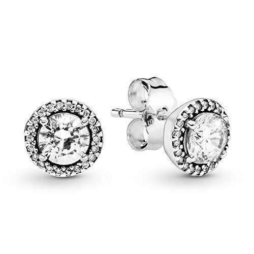 Pandora Pendientes de botón Mujer plata - 296272CZ