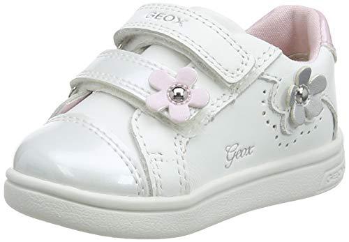 Geox B DJROCK Girl C, Scarpe da Ginnastica Bambina, White, 25 EU