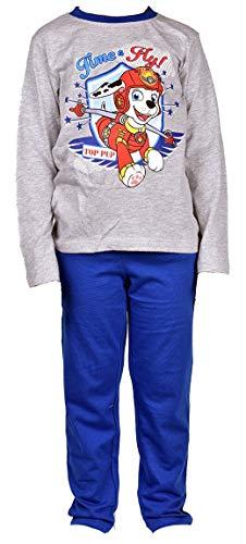 Disney Socks And Underwear - Pyjama garçon Licence : Mickey, Looney Tunes, Age de Glace, Minions, Peppa Pig en Coton Ultra Confort Pat Patrouille Er2050 Gris 5 Ans