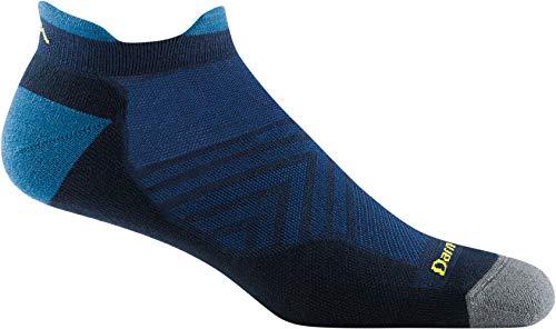 Darn Tough Men's Run No Show Tab Ultra-Lightweight with Cushion - Large Eclipse Merino Wool Socks for Running