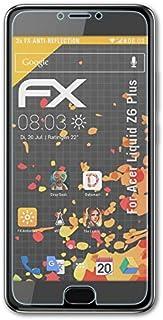 atFoliX Skärmskydd är kompatibel med Acer Liquid Z6 Plus Skyddsfilm, antireflekterande och stötdämpande FX Film (3X)