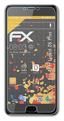 atFolix Panzerfolie kompatibel mit Acer Liquid Z6 Plus Schutzfolie, entspiegelnde & stoßdämpfende FX Folie (3X)
