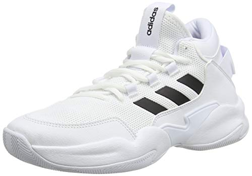 adidas STREETCHECK, Zapatillas de básquetbol Hombre, FTWR White Core Black Grey Two F17, 43 1/3 EU