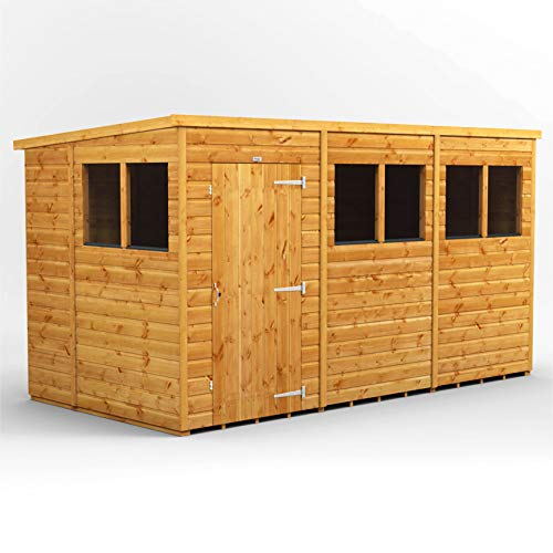 POWER | 12x6 Pent Wooden Garden Shed | Size 12 x 6 | Super Fast 2-3 Day Delivery or Pick your own day