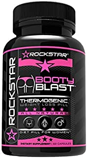 Booty Blast Weight Loss Pills for Women, All Natural Supplement by Rockstar, with Garcinia, Raspberry Ketones, Hoodia, African Mango and More. 60 Capsules