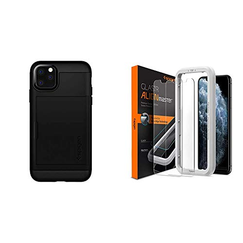 Spigen Slim Armor CS Phone Case for iPhone 11 Pro Max Case Black 075CS27139 & SANTORO Gorjuss Bed Linen Duvet Cover 140 x 200 cm + 70 x 90 cm 100% Cotton