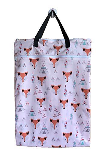 MUMBABY Large Hanging Wet/dry Cloth Diaper Pail Bag for Wiederverwendbare Windeln oder Wäscherei (Baby Fox)