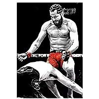 ホルヘ・マスヴィダルvsアスクレンフライングニーポスター絵画キャンバスウォールアートキャンバスにプリントリビングルームの装飾の写真家の装飾50x70cmフレームなし