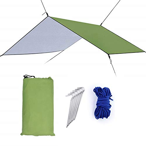 Fealay Anti-UV Impermeable Hamaca Lluvia Lona, Tienda de campaña de Nylon 210T con Dosel de excursión Que acampa