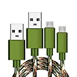 Micro USB Charger Cord,2pack 6ft Long Camo Braided Fast Charging Cable Compatible for Samsung S4 S6 S7 Edge/Plus/Active, Galaxy J3 J7 Prime/Star/Crown/Sky Pro, Note 5 4, Tablet Tab 3 4