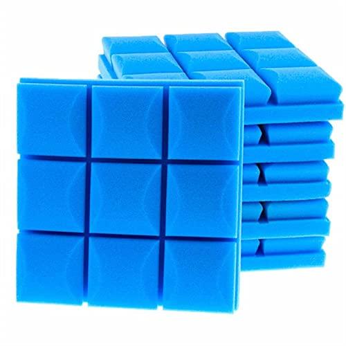 Alysays 6/12 / 24 pcs Pannel de Mousse Acoustique Absorption Acoustique Éponge Sponge Drum KTV Room Silence Traitement Polyuréthane Mur en Mousse insonorisée (Color : Blue, Dimensions : 6pcs)