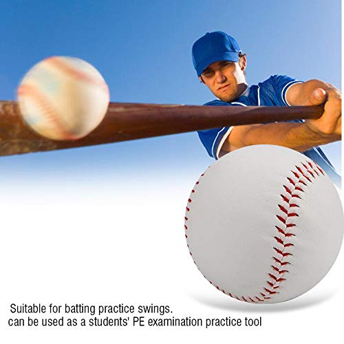 Jarchii Soft Filling Soft Baseball, Softball, to Improve Skills. PVC Base Ball Batting, High Elastic Practice Soft Baseball, For Game Practice