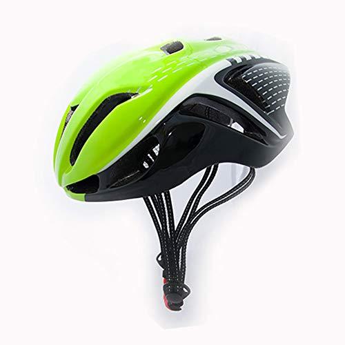 FENGE Fahrradhelm Bike Helmet Radhelm Kinderhelm Sporthelm CE-Zertifizierung, für Erwachsene, Jugendliche, Kinder, geschützt für Fahrrad, Rollschuh, Skateboard, Longboard usw 56~62cm,Grün