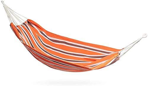 XCJJ Garden Hammock For 2-100% Cotton Outdoor Garden Double Hammock with Travel Bag - Orange (Double) (Size : Double)