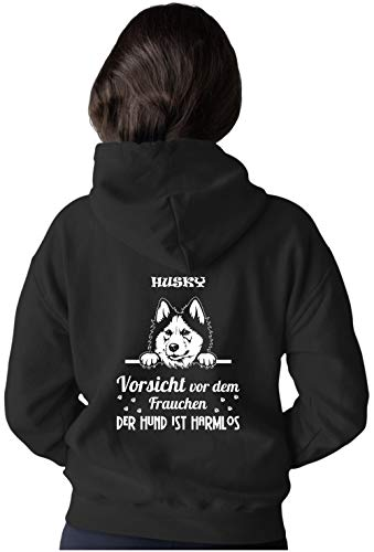 BlingelingShirts - Chaqueta con capucha para mujer, tallas grandes, diseño de husky Chaqueta Husky. S