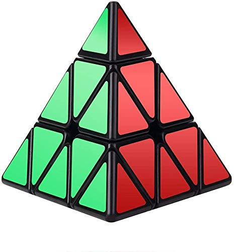 Vdealen Cubo de Velocidad Piramidal,Original Cubo de Pirámide Concurso Especial Edición Ultra Rápida,Etiqueta Adhesiva de Giro Brillante Súper Duradera con Colores Vivos,Fácil de Girar