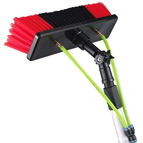 INTBUYING 8m Water Fed Pole For Window & Solar Panel Cleaning Tool with Brush & Squeegee