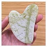 Letaowl Gua Sha Natural Jade Gouache Scaper Gua Sha Sha Shoe Masaje Herramientas for el Cuerpo Meridian Scrapping Face Lifting Slimming Detox Detox Beauty SPA (Color : Heart)