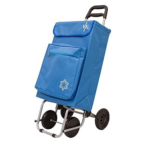 Amig Carro de Compra, Azul, Capacidad de 48L