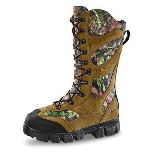 Guide Gear Giant Timber II Men'sInsulated Waterproof Hunting Boots, 1,400-gram, Mossy Oak, Mossy Oak Break-Up Country, 10 2E (Wide)