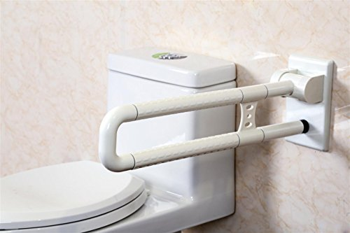 Best Father's Day Gift.Avinka Flip-Up Safety Toilet Grab Bar Help The Elderly or convalescents to use The Toilet