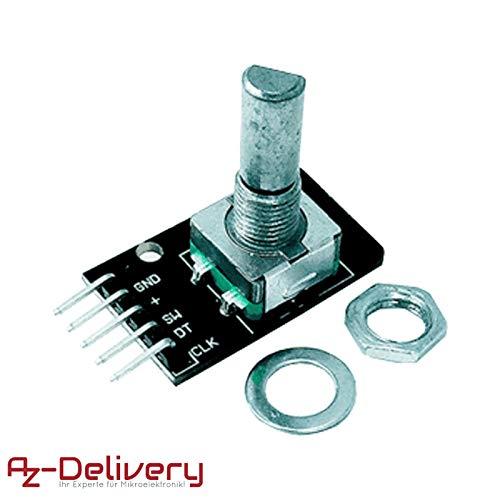 AZDelivery KY-040 Drehwinkelgeber Drehgeber Rotary Encoder Modul für Arduino