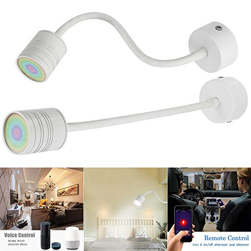 Soulitem - Bombilla de Pared LED Inteligente con WiFi, Control de Tiempo, Tubo Flexible para Amazon Alexa y Google Home