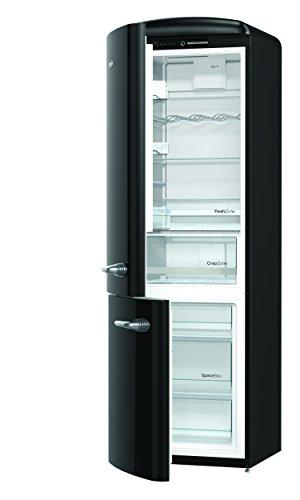 Gorenje ORK 193 x de l Réfrigérateur/Congélateur/A + + +/Hauteur 194 cm/kühlen : 227 l/gefrieren : 95 L/Silver/Frost Less/Crisp Zone/Oldtimer/Retro Collection noir