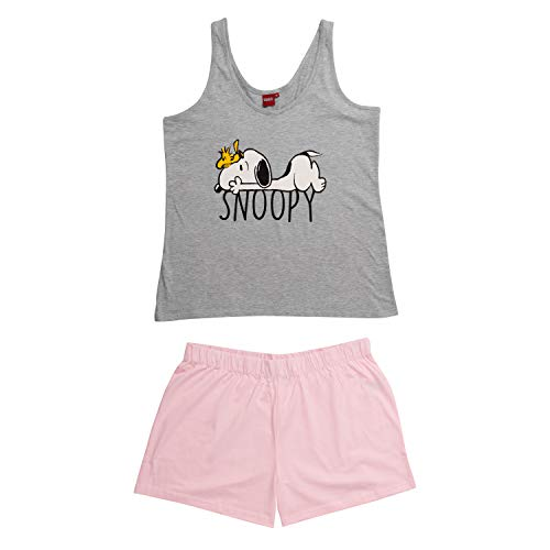United Labels Snoopy Damen Pyjama kurz, Frauen Schlafanzug Peanuts (Small)