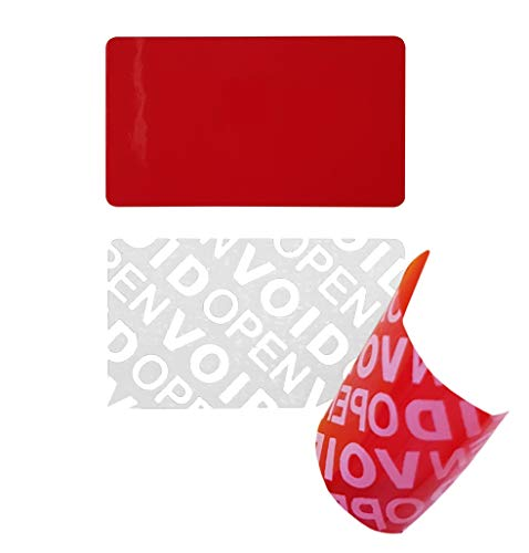 100 Stk - Siegel 35*20mm rot - Verschlussetiketten, Sicherheitssiegel, Qualitätssiegel Garantie-Siegel Sicherheitsetiketten, Rückgabesiegel, Papiersiegel, Klebesiegel Etikett selbstklebend Aufkleber