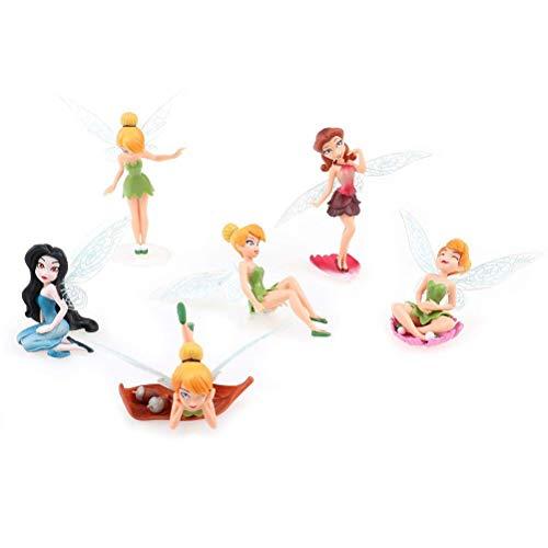 SuxiDi Different Flower Fairy Ornaments Miniature Figurine Garden Ornament Plant Pot Craft Dollhouse Decoration