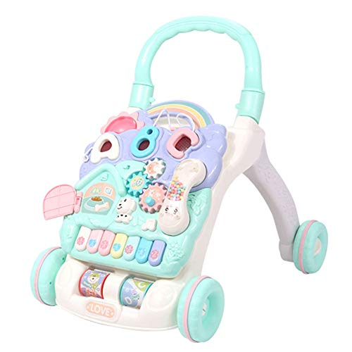 Baby Activity Walker, Stand Learning Walker, multifunctionele rollator voor kinderen 6-18 maanden, blauw en roze