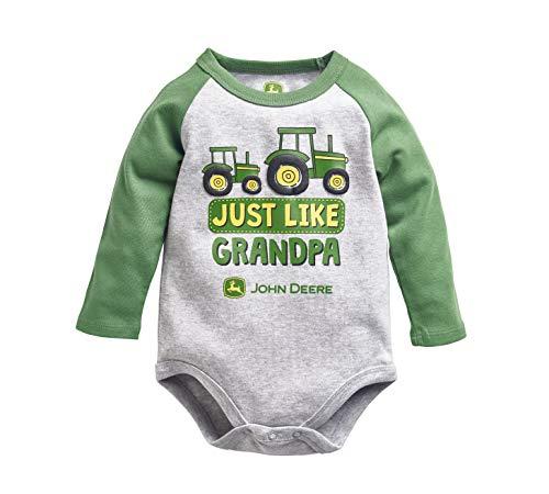 JOHN DEERE Baby-Jungen Boys' Bodyshirt T-Shirt, grün, 3-6 Monate