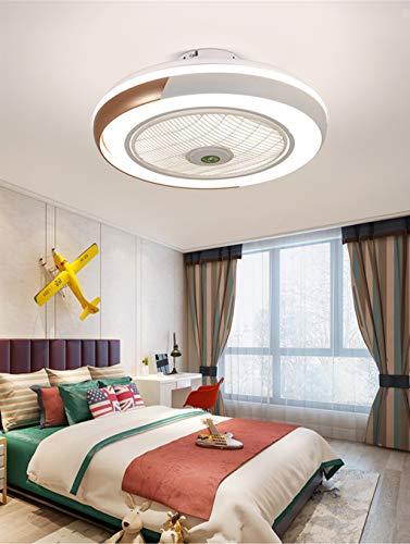 HYKISS LED Ventilatore A Soffitto con Lampada Moderno Invisibile Fan Plafoniera velocità del Vento Regolabile Ventilatore A Soffitto con Luci LED Dimmerabile Plafoniera con Fan Illuminazione,d'oro