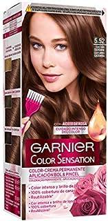 comprar comparacion Garnier Color Sensation - Tinte Permanente Castaño Cashmere 5.52, disponible en más de 20 tonos