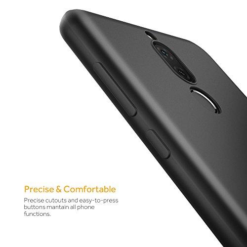 EasyAcc Huawei Mate 10 Lite Hülle Case, Schwarz TPU Telefonhülle Matte Oberfläche Handyhülle Schutzhülle Schmaler Telefonschutz für das Huawei Mate 10 Lite - 6