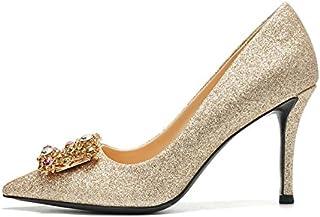 6e39e5a877c234 HUAIHAIZ Escarpins femme Talons hauts Des chaussures à talons d'or femme  robe la mariée