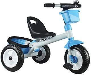 WALJX 三輪車 ポータブル子供用三輪車 男性と女性のベビーカー 膨脹可能なタイヤの赤ん坊の赤ん坊の自転車 チャイルドウォーカー 空気圧タイヤ クイックインストール 2〜3〜6歳の男の子と女の子が屋外でのライドに適しています ギフトとして使用できます オプションの3色 (Color : Blue)